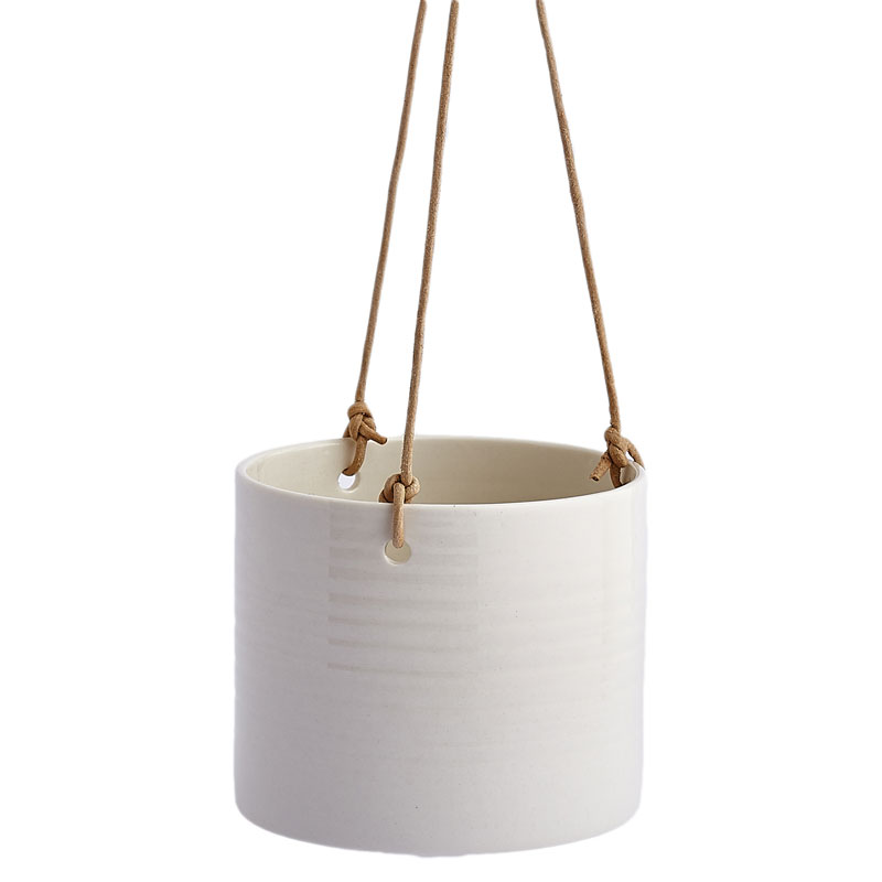 Grow Hanging Planter By Anne Black, White