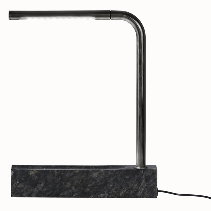 Pipe Lamp In Granite And Black Chrome