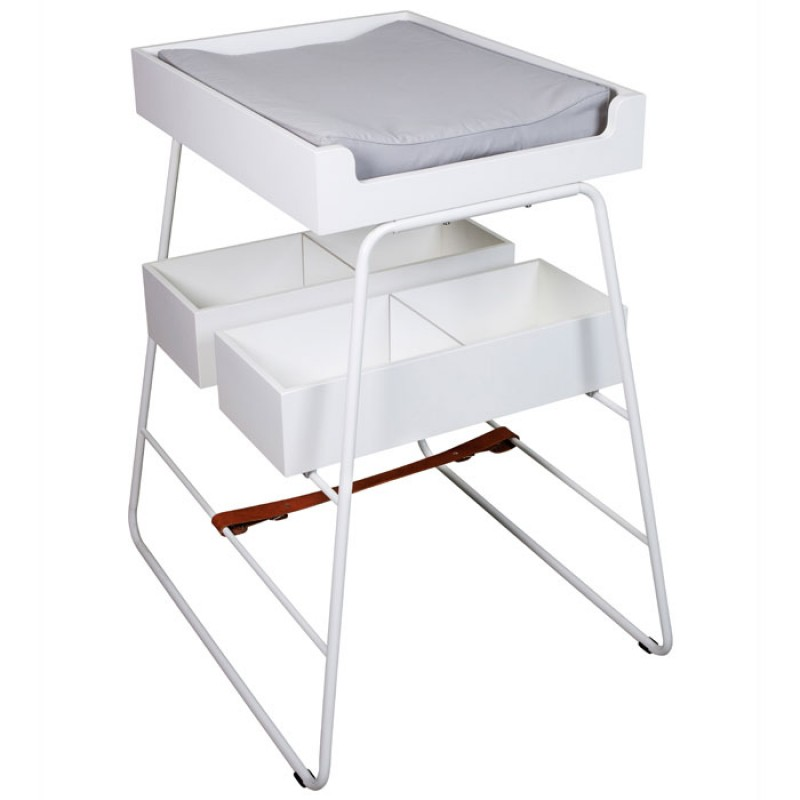 Skandivis BudtzBendix Tower White Baby Changing Table & Mattress