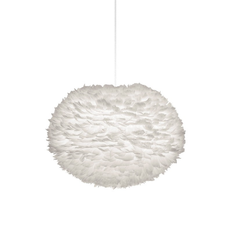 Large Eos Feather Pendant Light - White By Umage