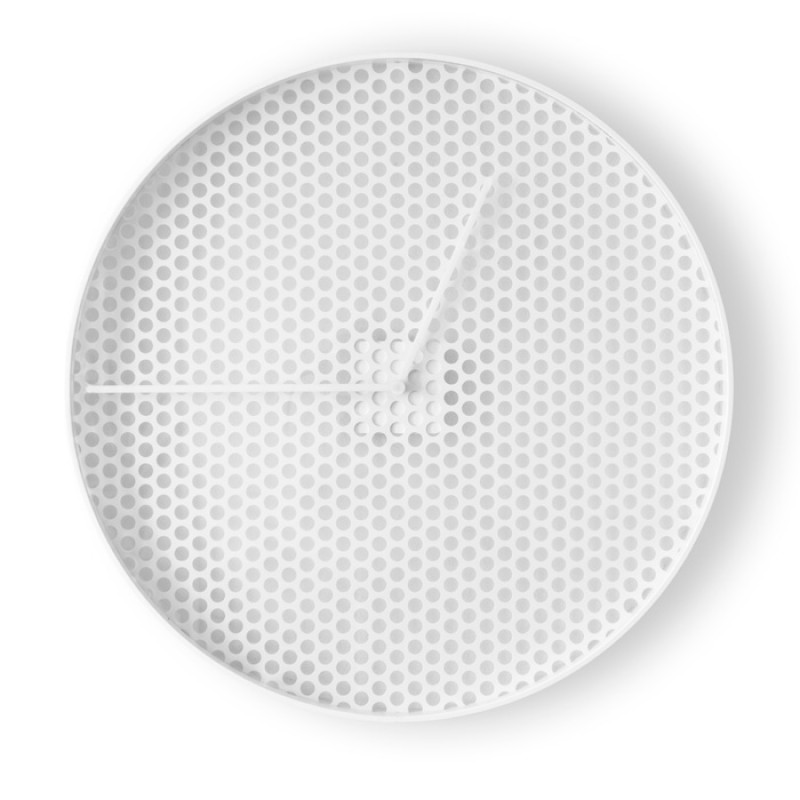 TIME Wall Clock  White - Large