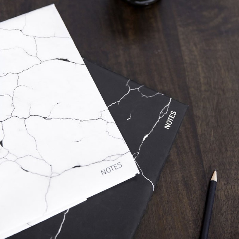 By Nord Danish design White Marble Notebook