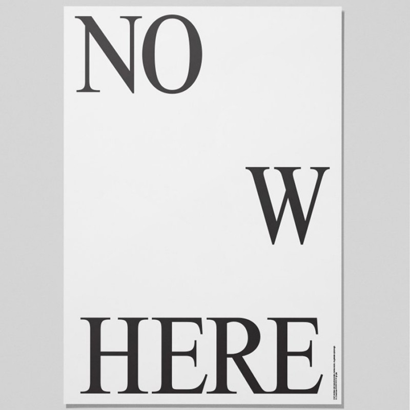 Nowhere Poster By Playtype