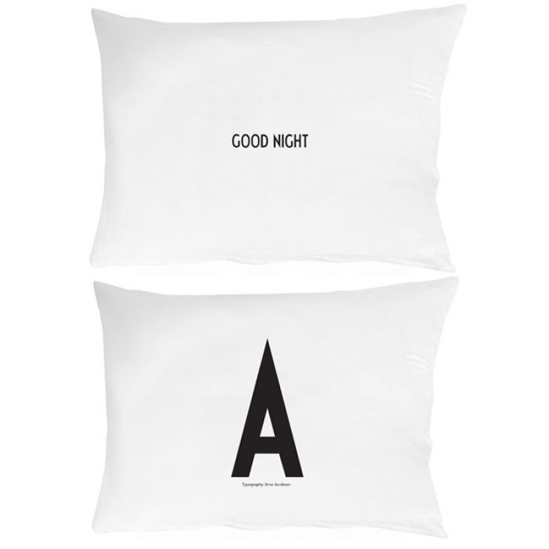 Skandivis Design Letters Design Letters Pillowcase With Letters