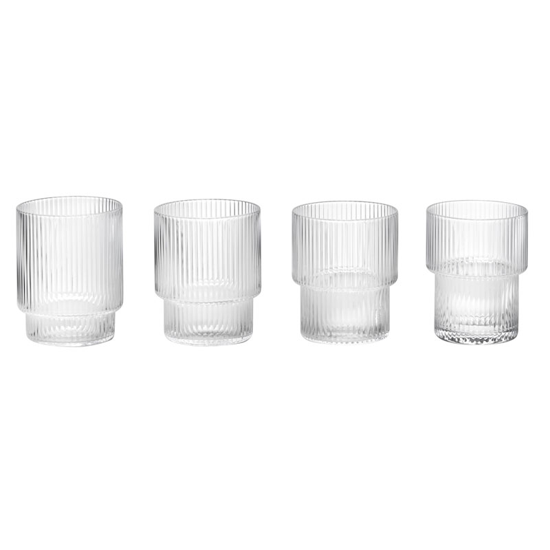 Skandivis Ferm Living Danish Design Ripple Glass Set Ferm Living