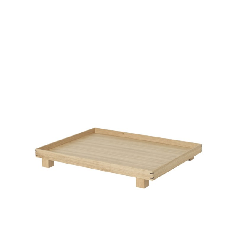 Oak Bon Bon Tray with small legs,  Large By Ferm Living