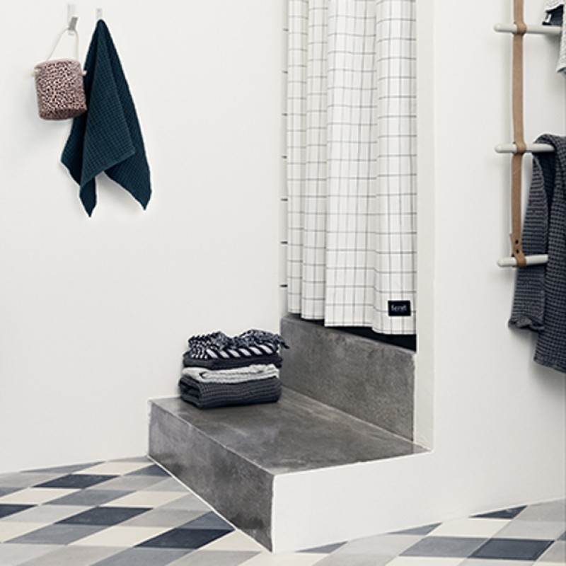 Ferm Living Danish Design Ferm Grid Shower Curtain