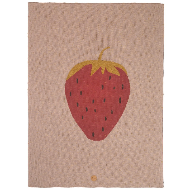 Ferm Living Danish Design Strawberry Blanket By Ferm Living