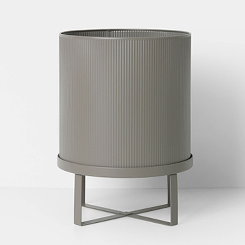 Ferm Living Danish Design Bau Pot Large In Warm Grey