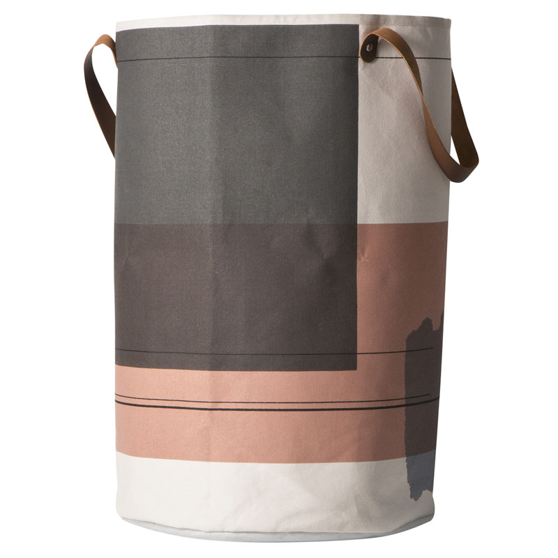 Skandivis Ferm Living Danish Design Colour Block Laundry Basket