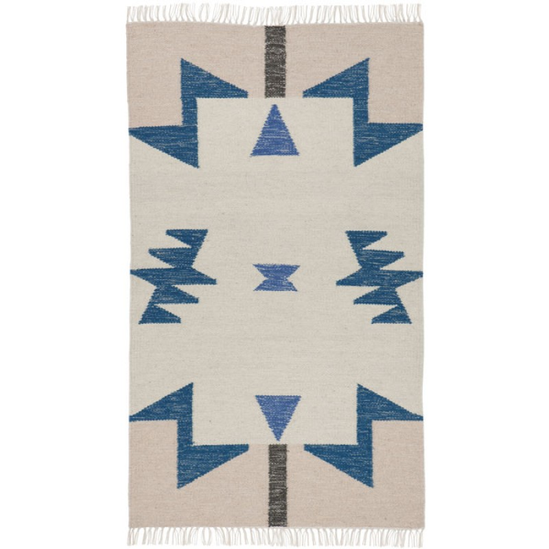 Ferm Living Danish Design Kelim Rug Graphic Colours (small)