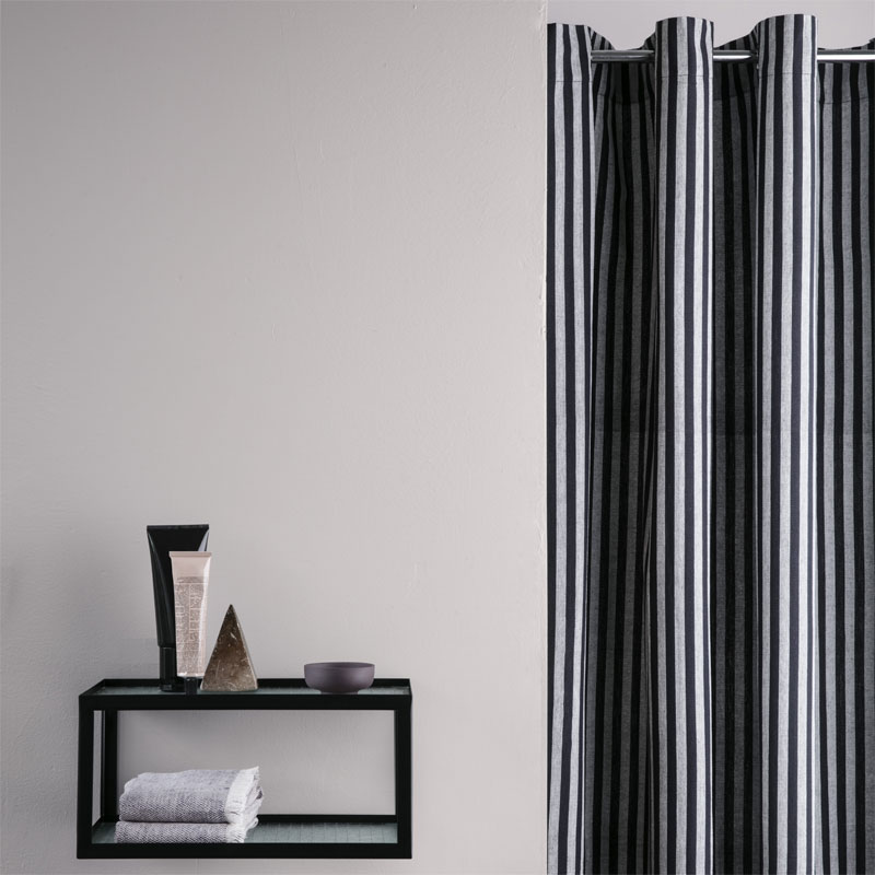 Skandivis Ferm Living Danish Design Ferm Living Chambray Shower Curtain Striped