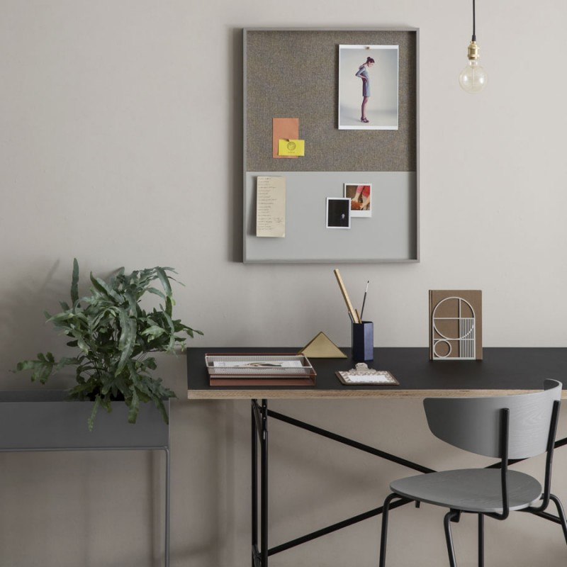 Skandivis Ferm Living Danish Design Frame Pinboard, Grey From Ferm Living