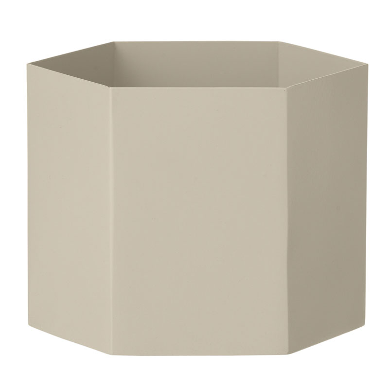Skandivis Ferm Living Danish Design Hexagon Pot In Light Grey By Ferm Living