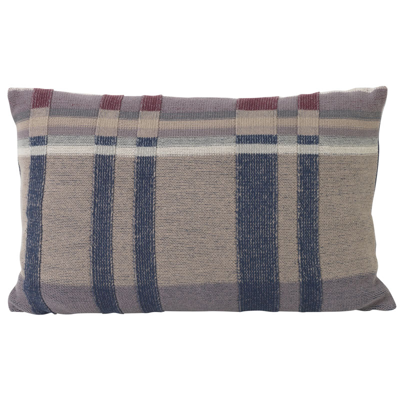 Ferm Living Danish Design Medley Knit Cushion Dark Blue, Large