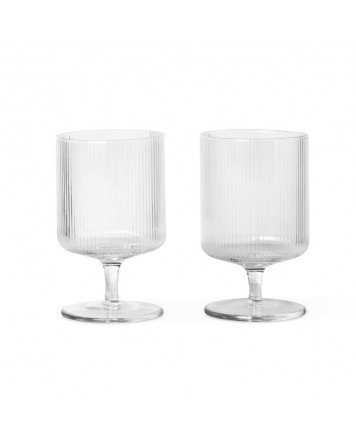 Ripple Mouth Blown Wine Glasses (2 pack) Ferm Living
