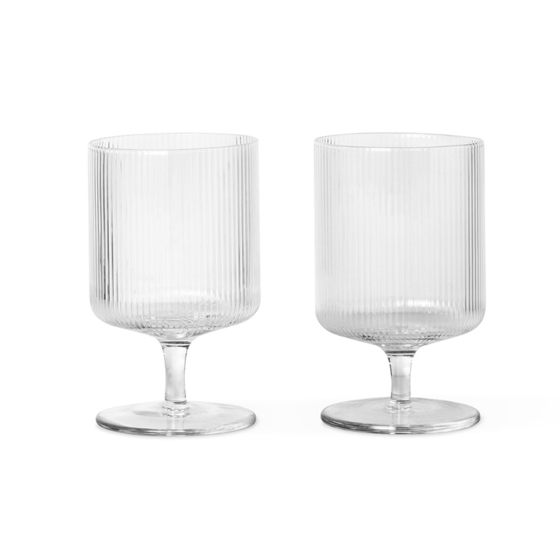 Scandinavian Designed Ripple Wine Glasses (2 pack) Ferm Living
