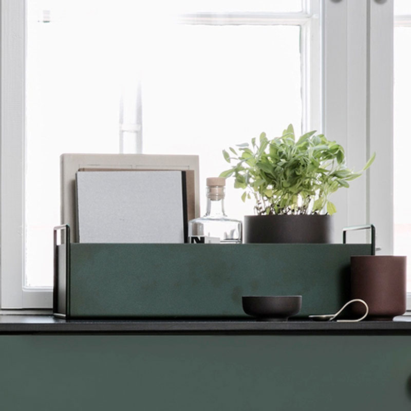 Skandivis Ferm Living Danish Design Small Ferm Living Plant Box , Green