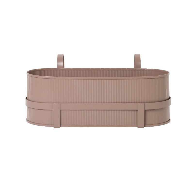 Ferm Living Bau Balcony Plant Box - Rose