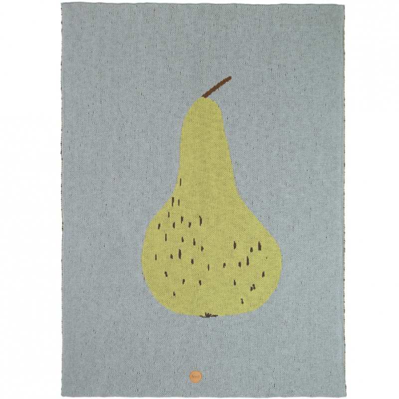 Skandivis Ferm Living Danish Design Pear Blanket By Ferm Living