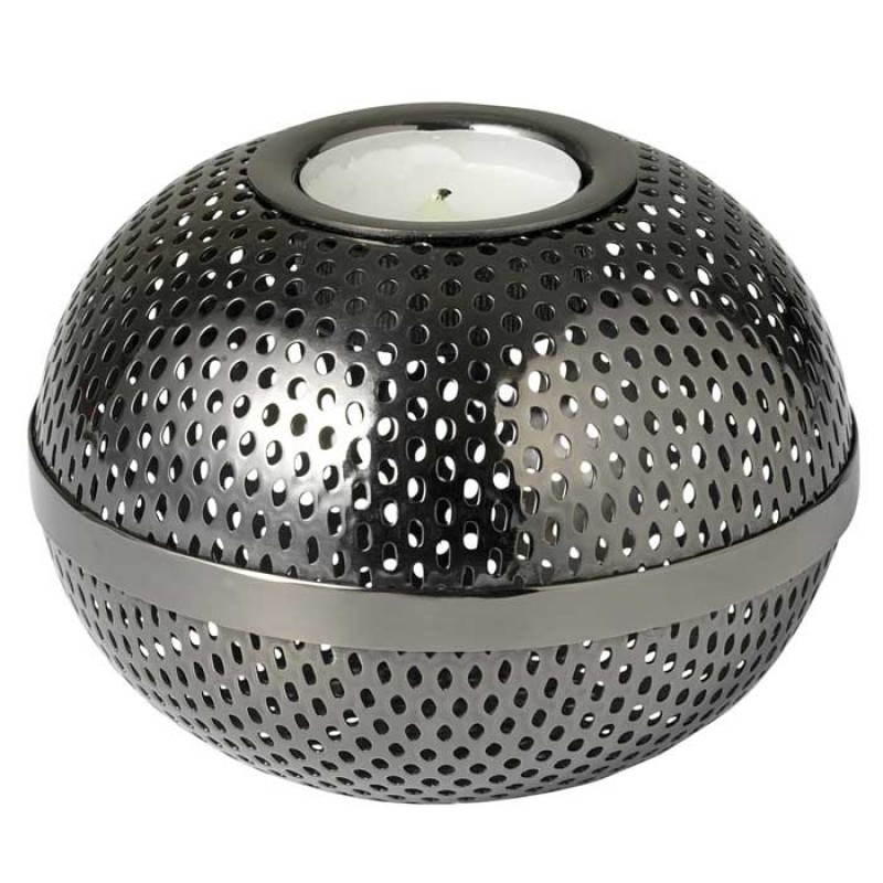 Skandivis Louise Roe Louise Roe Gunmetal Tea light holder