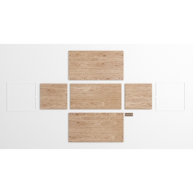 Storage Box in Oak and White by Moebe