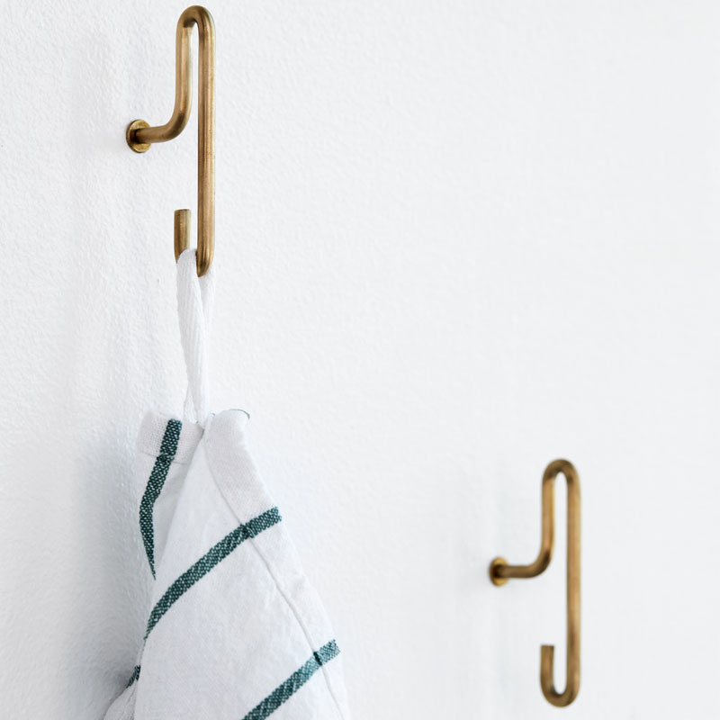 Moebe Matt Gold Wall Hooks Small (pack of 2)