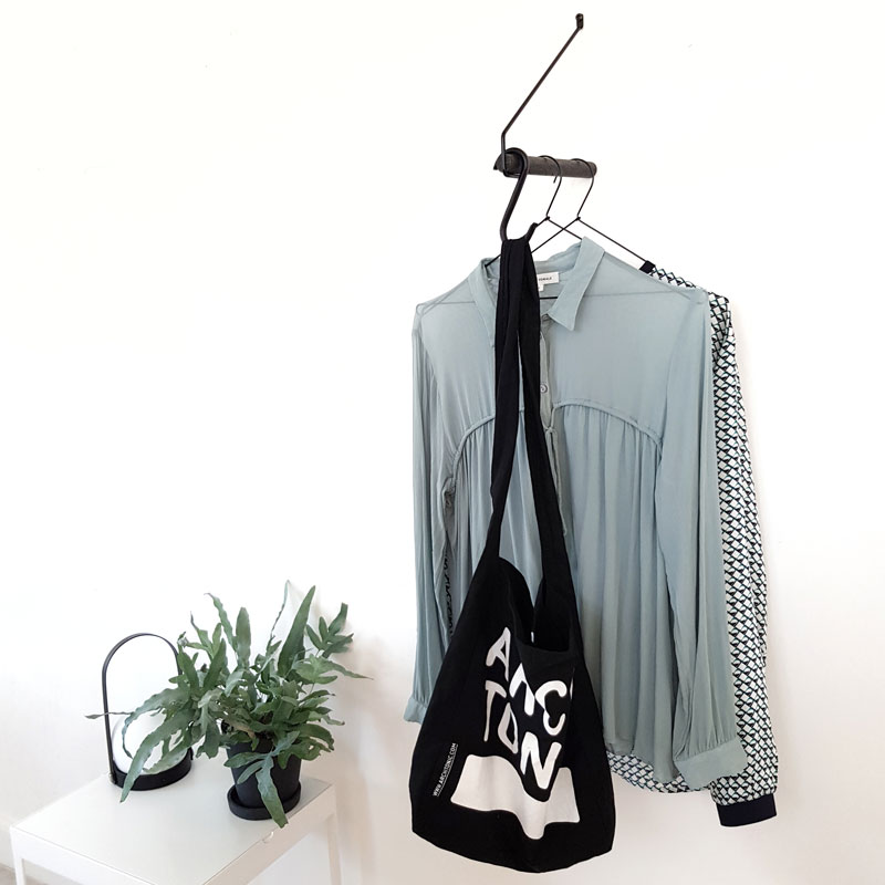 Minimalist Clothes Rack  - Add More  Black Oak Black