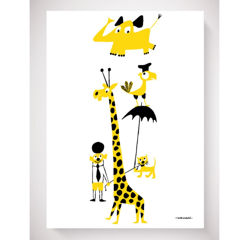 Yellow Animals By Olle Eksell