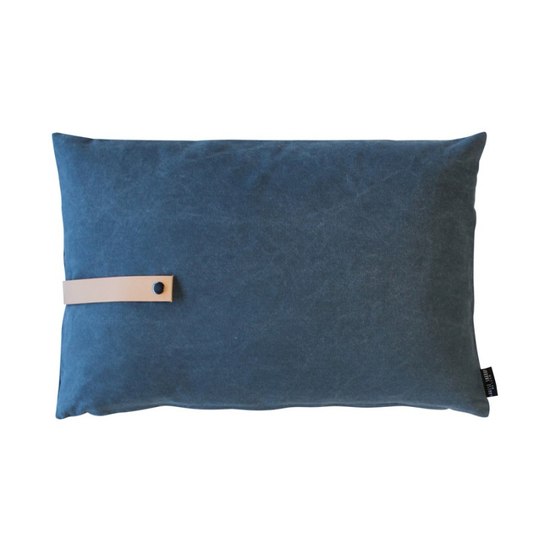 Louise Smaerup Blue Canvas Cushion 60x40cm
