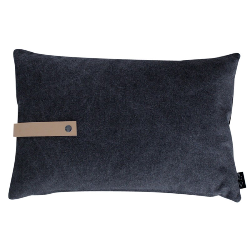 Black Canvas Cushion 60 x 40 cm