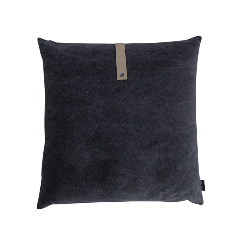 Black Canvas Cushion 50x50cm
