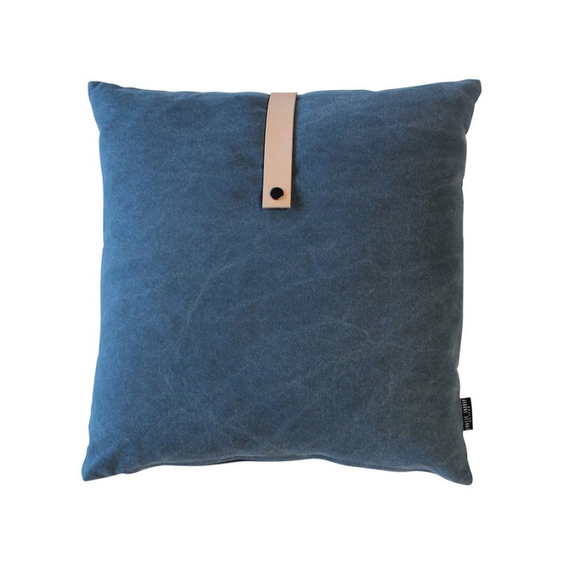 Skandivis Louise Smaerup Blue Canvas Cushion 50x50cm
