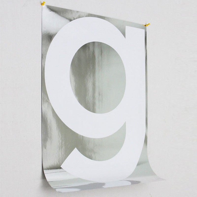 Letter G On Chrome From Playtype