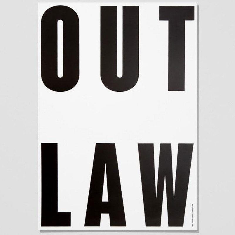 Out Law Typography Poster, Playtype