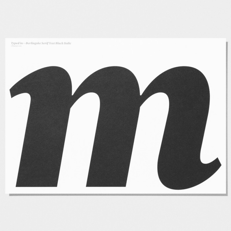 Playtype Berlinske m Poster