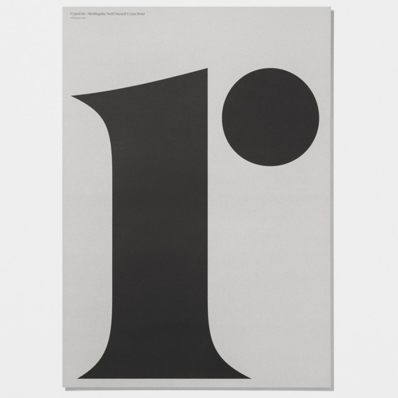 Playtype Berlinske lowercase r  Poster