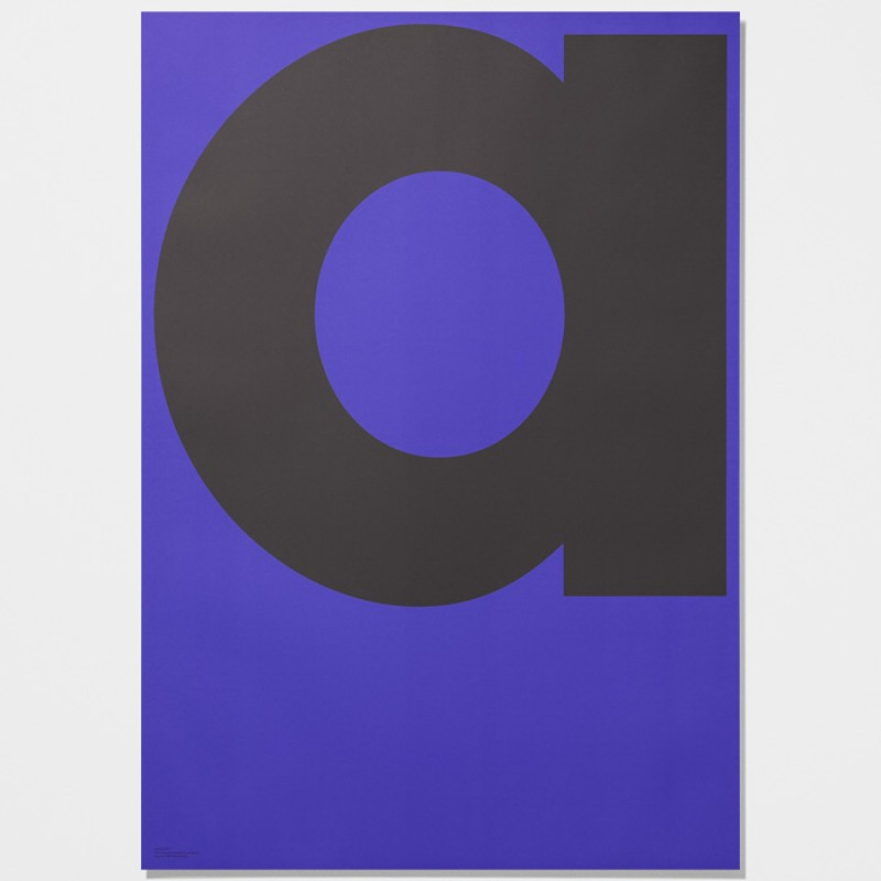 Playtype  Poster with Letter a