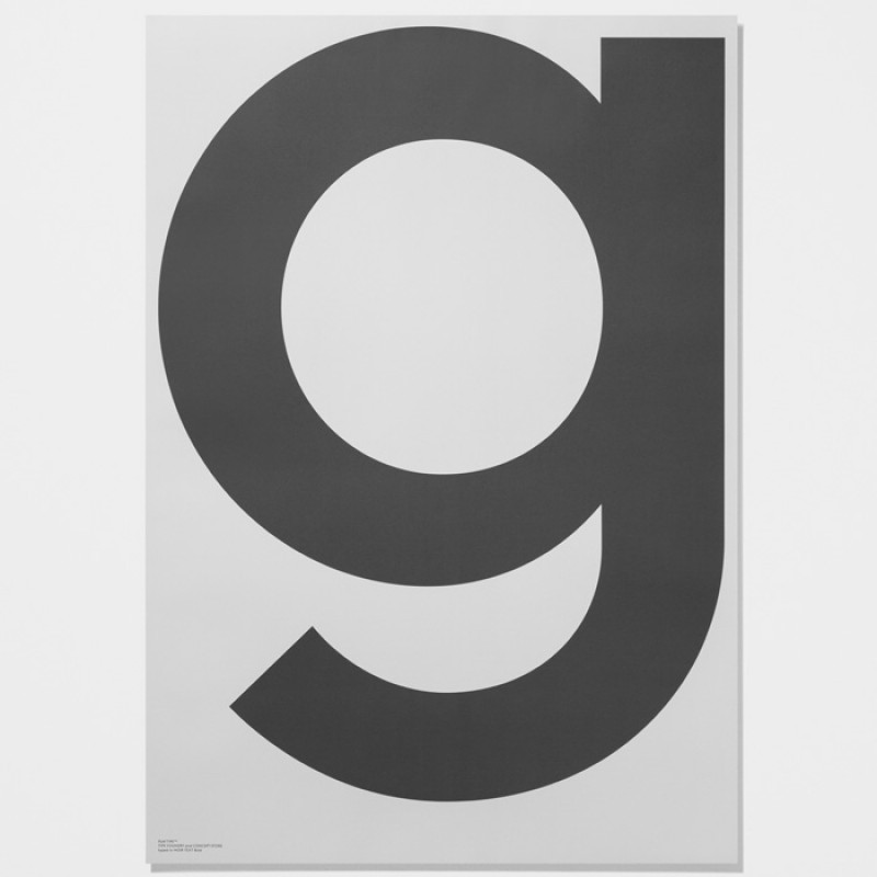 Playtype Poster g  Grey