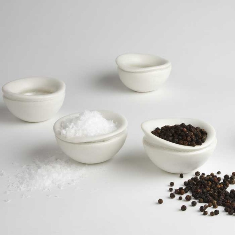 Finch Porcelain Salt or Pepper  Bowl