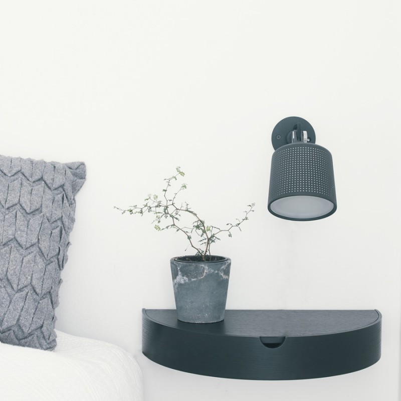Black Hide Away Shelf,  By Nordic Function