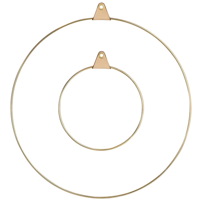 Skandivis Strups Denmark Large Brass Ring By Strups