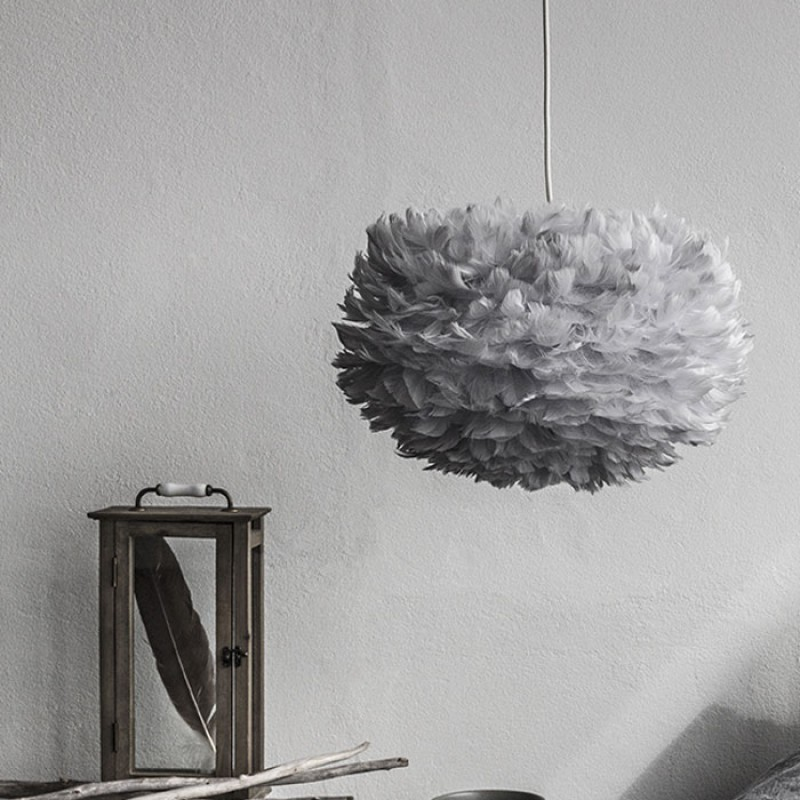 Vita Copenhagen Medium Eos Feather Light Shade - Grey
