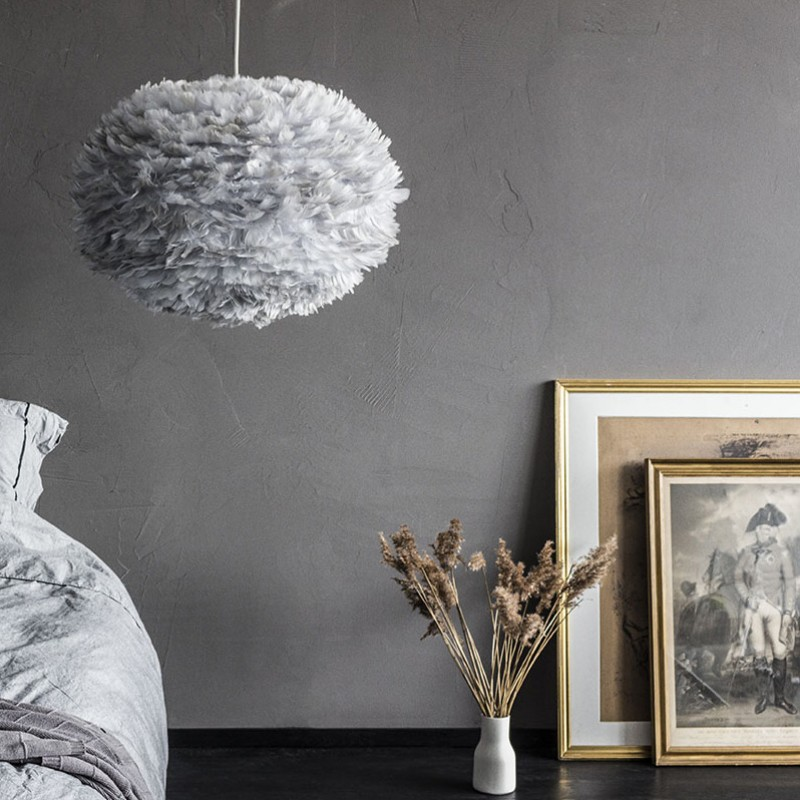 Skandivis Vita Copenhagen Large Eos Feather Light Shade - Grey