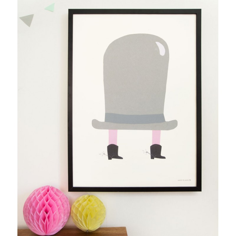 Skandivis Walnut And Walrus The Hat - Poster by Walnut & Walrus