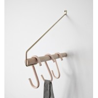 Minimalist Clothes Rack - Add More,  Oak & Brass