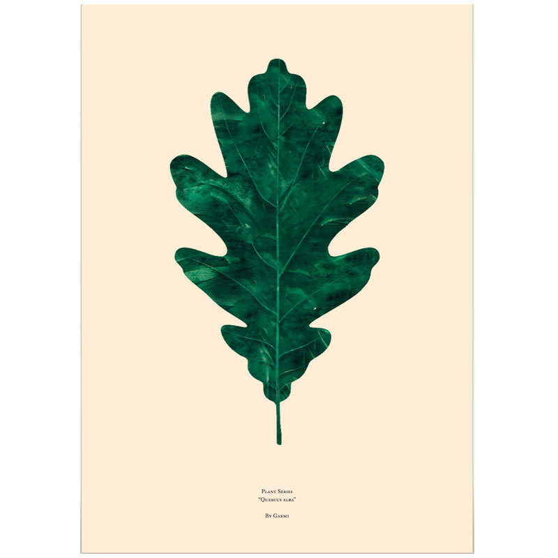 Oak Leaf Poster, By Garmi