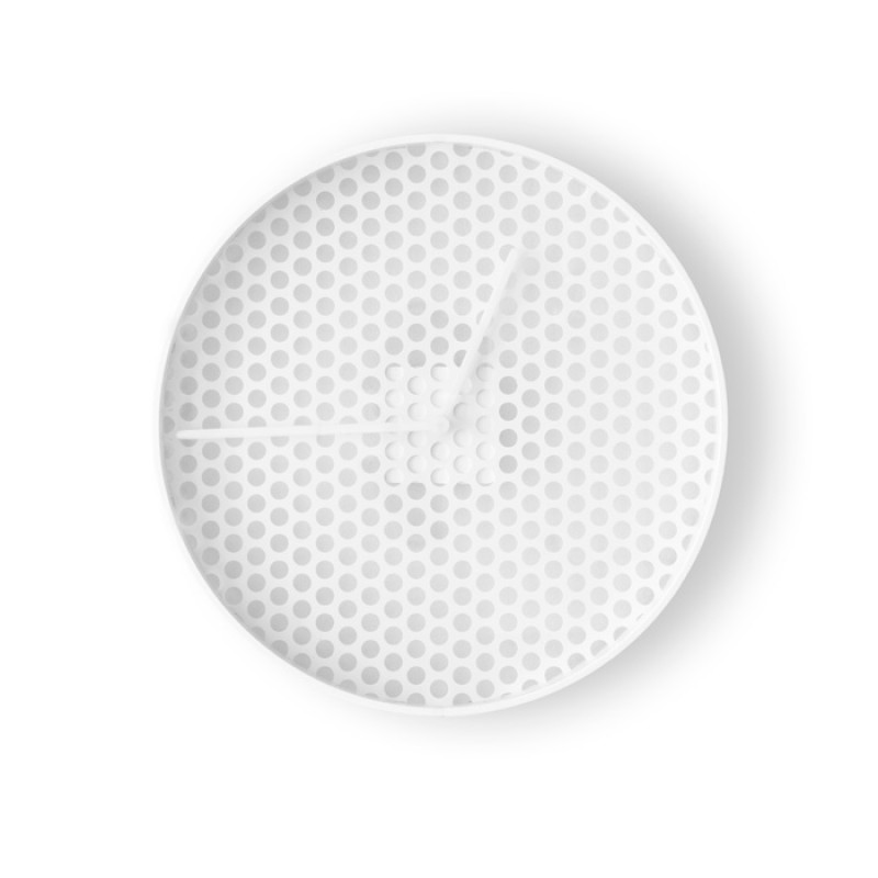TIME Wall Clock  White - Small