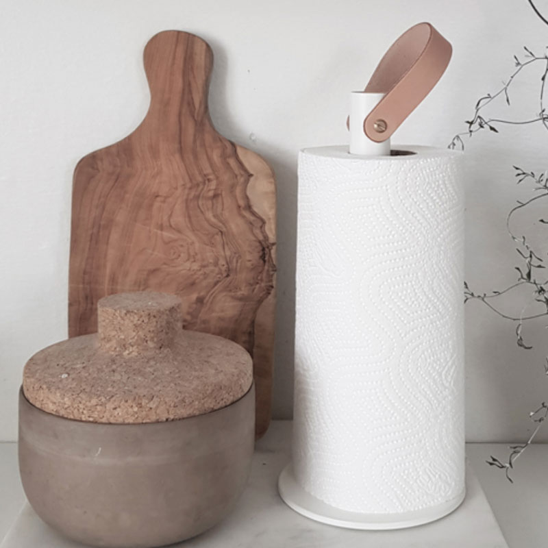 White Kitchen Roll holder,2Grab