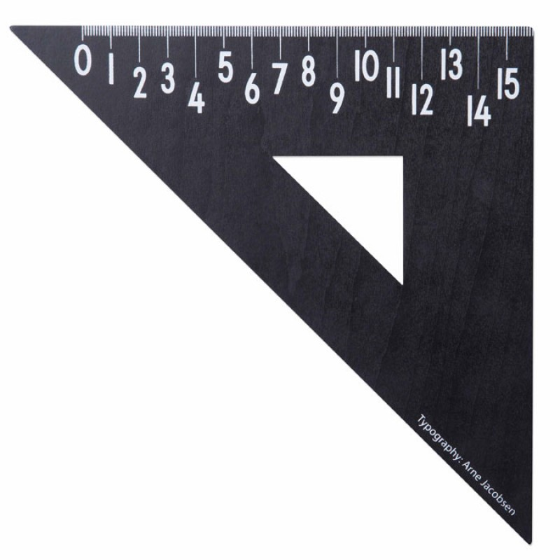 Skandivis Design Letters Wooden Triangle Ruler from Design Letters